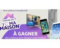 Auchan: 1 TV LED Samsung HD, 1 réfrigérateur Hotpoint, 1 iPhone 7 et 1 iPad à gagner