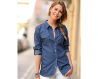 3 Suisses: Chemise en jean à manches longues femme Exclusivité 3SUISSES à 31,99€
