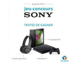 Bouygues Telecom: Un smartphone Sony Xperia XZ1, une console PS4 ou un casque Sony à gagner