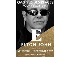 Le Parisien: 2 lots de 2 places pour le concert d'Elton John le 01/12 à Paris à gagner