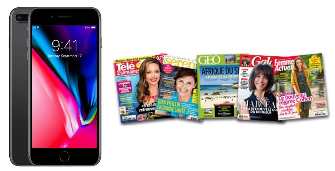 Code promo Prismashop :  1 iPhone X 64 Go & 10 lots d'1 an d'abonnement à un magazine au choix