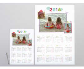PhotoBox: Grand calendrier Pêle-mêle à 8€ au lieu de 19,95€