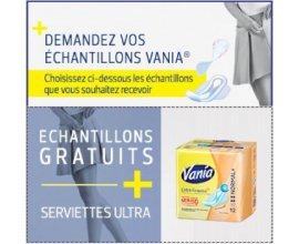 Vania: Demandez vos échantillons de serviettes et protège-slips