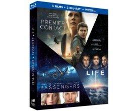 Amazon: Coffret Blu-ray 3 films : Premier contact + Passengers + Life à 11,99€