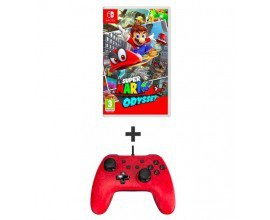 Auchan: Pack Super Mario Odyssey + Manette filaire Mario Exclusif SWITCH à 64,98€