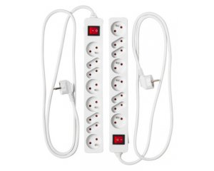 2 blocs multiprise x 8 avec interrupteur pour 7 ikea. Black Bedroom Furniture Sets. Home Design Ideas