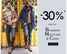 IZAC: -30% sur les blousons, manteaux et cuirs de la collection hiver