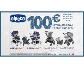 Chicco: 100€ remboursés pour l'achat d'un Trio Chicco