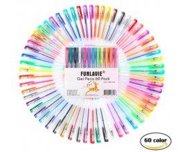 Amazon: Lot de 60 stylos bille à encre gel multicolores à 13,99€