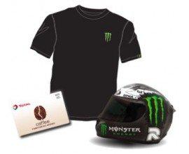 Coca Cola: 60 lots Monster et Total (casque de moto, t-shirts, casquettes...) à gagner