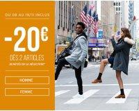 Bonobo Jeans: Offre spéciale grand froid : -20€ dès 2 articles achetés de la sélection