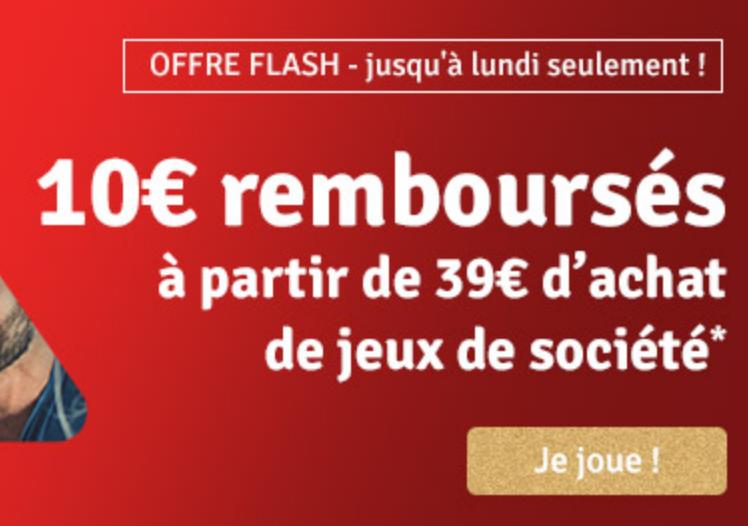 Code promo Avenue des Jeux : 10€ remboursés à partir de 39€ d'achat sur les jeux de société