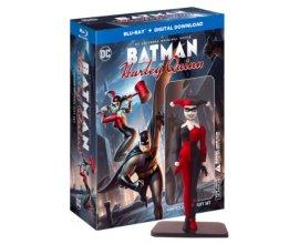 Zavvi: Coffret Blu-ray édition limitée Batman et Harley Quinn avec Figurine à 10,25€