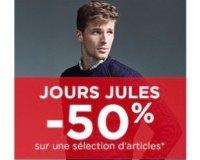 Jules: Jours Jules : tout à - 50% sur une sélection d'articles