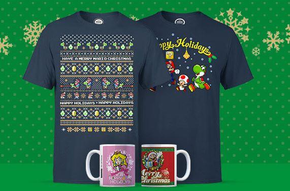 Code promo Zavvi : 1 mug offert pour l'achat d'un t-shirt de Noël Nintendo