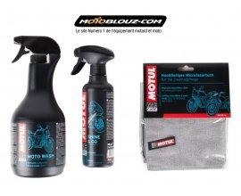 Motoblouz: 1 flacon Motul Moto Wash et 1 Shine & Go acheté = 1 microfibre offert