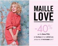 NAF NAF: -40% de réduction sur le 2ème pull, gilet ou robe pull de la collection Hiver 17