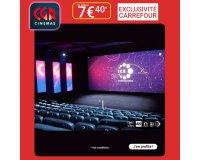 Carrefour: Places de cinéma CGR à 7,40€ au lieu de 9,90€