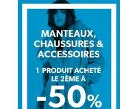 New Look: 1 article acheté parmi les Manteaux, chaussures & accessoires = le 2ème à -50%