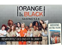 "Allociné: Des DVD et des Blu-ray ""Orange is the new black - saisons 1 à 4"" à gagner"