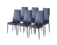Cdiscount: 60% de réduction sur ce lot de 6 chaises de salle à manger noires