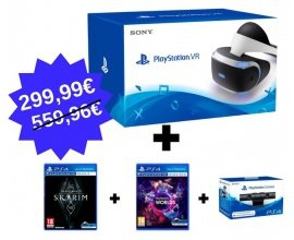 Micromania: Casque Playstation VR + camera V2 + VR Worlds et Skyrim VR à 299,99€