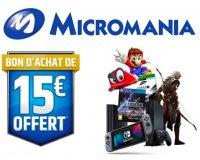Micromania: 15€ offerts en bon d'achat pour tout paiement 4x sans frais via Paypal