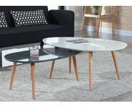 Cdiscount: Table basse scandinave laquée blanc STONE à 39,99€ au lieu de 149€
