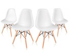 eBay: Lot de 4 Chaises Retro Blanches Nordic Design – McHaus à 59€ au lieu de 189€