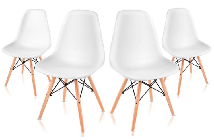 Code promo eBay : Lot de 4 Chaises style scandinave à 59,99€ au lieu de 189€