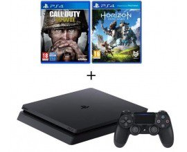 Cdiscount: PS4 Slim 500 Go + Call of Duty World War II + Horizon : Zero Dawn à 309€