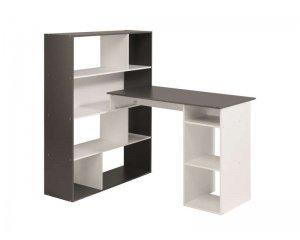 Bureau kurtis coloris blanc gris à 59 99u20ac au lieu de 119 99u20ac @ conforama