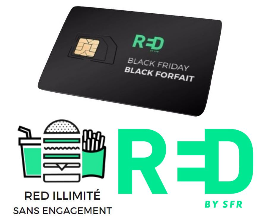 Code promo RED by SFR : Forfait mobile Appels, SMS, MMS illimités et 100Go d'Internet 4G à 12€/mois à vie