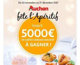 Auchan: 5000€ de cartes cadeaux à gagner