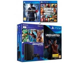 Cdiscount: PS4 1 To + 6 jeux : tous les jeux Uncharted + GTA V à 329,99€