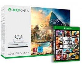 Amazon: Pack Xbox One S 500 Go Assassin's Creed Origins + GTA V à 189€