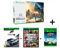 Cdiscount: Xbox One S 500Go + Assassin's Creed Origins + Forza Motorsport 7 + GTA V + Steep