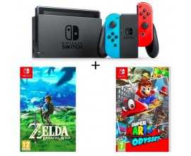 Cdiscount: Nintendo Switch + The Legend of Zelda + Super Mario Odyssey à 399,99€