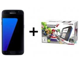 Cdiscount: Samsung Galaxy S7 Noir + 2DS Bleue + Mario Kart 7 à 349€ (dont 70€ via ODR)