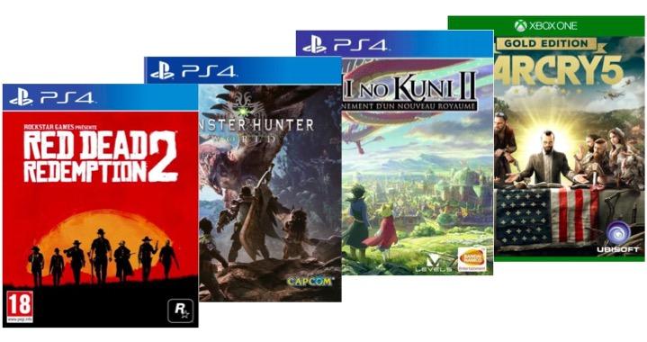Code promo Fnac : [Adhérents] Jusqu'à 15€ offerts sur les précommandes jeux-vidéo 2018