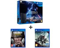 Auchan: PS4 Slim 1To + Star Wars Battlefront II + CoD WW II + Destiny 2 à 369,99€