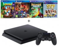 Cdiscount: PS4 Slim 500Go + Crash Bandicoot + Sonic Forces + Rayman + Qui-es-tu ? à 309,99€