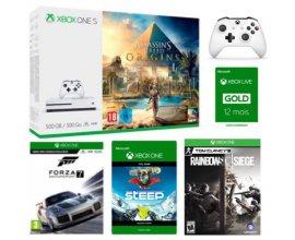 Micromania: 1 pack Xbox One S 500 Go + 2e manette + 3 jeux + 1 an de Xbox Live à 249,99€