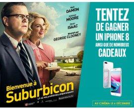 """BFMTV: 1 iPhone 8 & 100 places de cinéma pour le film """"Bienvenue à Suburbicon"""" à gagner"""