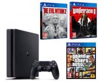 Fnac: Une console PS4 achetée = GTA + Evil Within 2 ou Wolfenstein 2 pour 30€