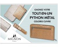 Elle: 3 lots de maroquinerie tout-en-un Python Métal de Mignon Paris à gagner