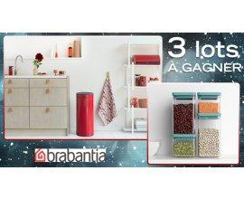 Cuisine Actuelle: 3 lots comprenant 1 poubelle Touch Bin New Brabantia et 4 bocaux carrés à gagner