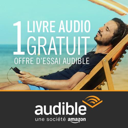 Code promo Amazon : 1 livre audio gratuit (offre d'essai de 30 jours)