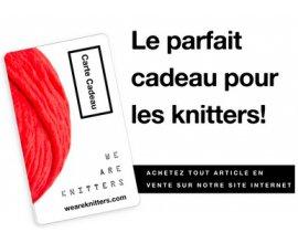 We Are Knitters: 20% de réduction immédiate sur toutes les cartes cadeaux allant de 25 à 300€