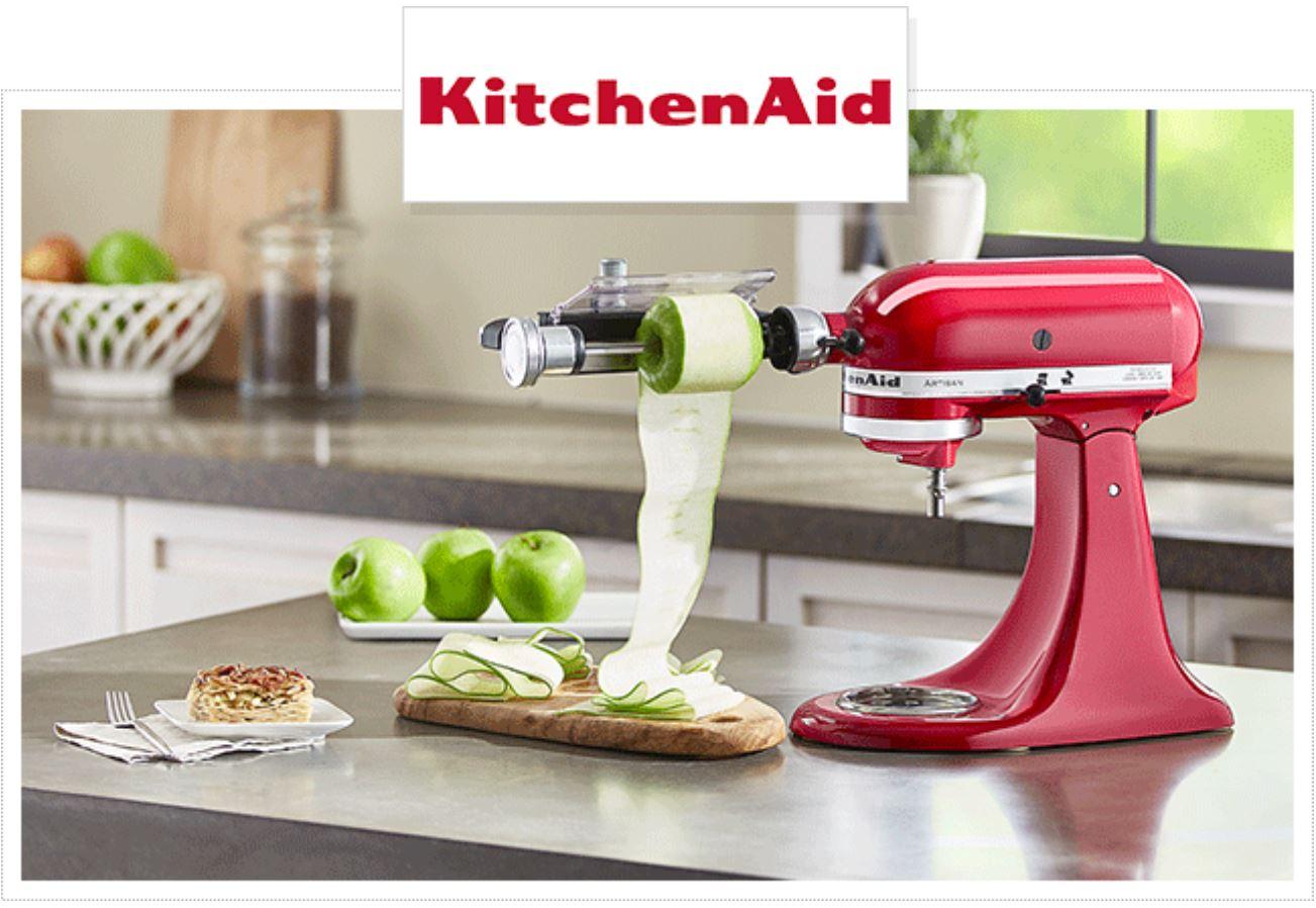 3 robots pâtissiers kitchenaid artisan + accessoire coupe lanières à